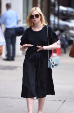 ELLE FANNING Out in New York 09/07/2017