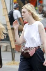 ELLE FANNING Out in New York 09/21/2017