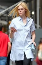 ELLE FANNING Out Shopping in New York 08/31/2017