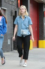 ELLE FANNING with Her Mother Out in New York 09/02/2017
