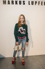 ELLIE BAMBER at Markus Lupfer Fashion Show at London Fashion Week 09/16/2017