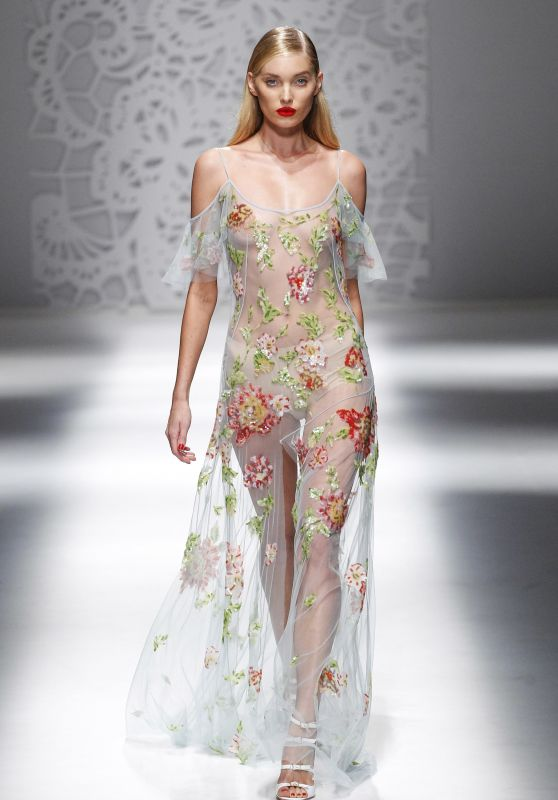 ELSA HOSK at Blumarine Fashion Show at Milan Fashion Week