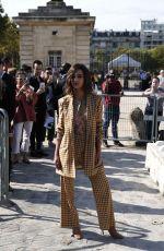 EMILY RATAJKOWSKI Arrivaes at Nina Ricci Fashion Show in Paris 09/29/2017