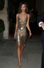 EMILY RATAJKOWSKI at Omega Her Time Exhibition Launch Party in Paris 09/29/2017