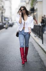 EMILY RATAJKOWSKI Out and About in Paris 09/27/2017