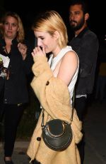 EMMA ROBERTS Arrives at Harry Styles Concert in Los Angeles 09/21/2017