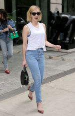 EMMA ROBERTS in Jeans Leaves Her Hotel in New York 09/12/2017