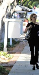 EMMA ROBERTS Out in Los Angeles 09/22/2017