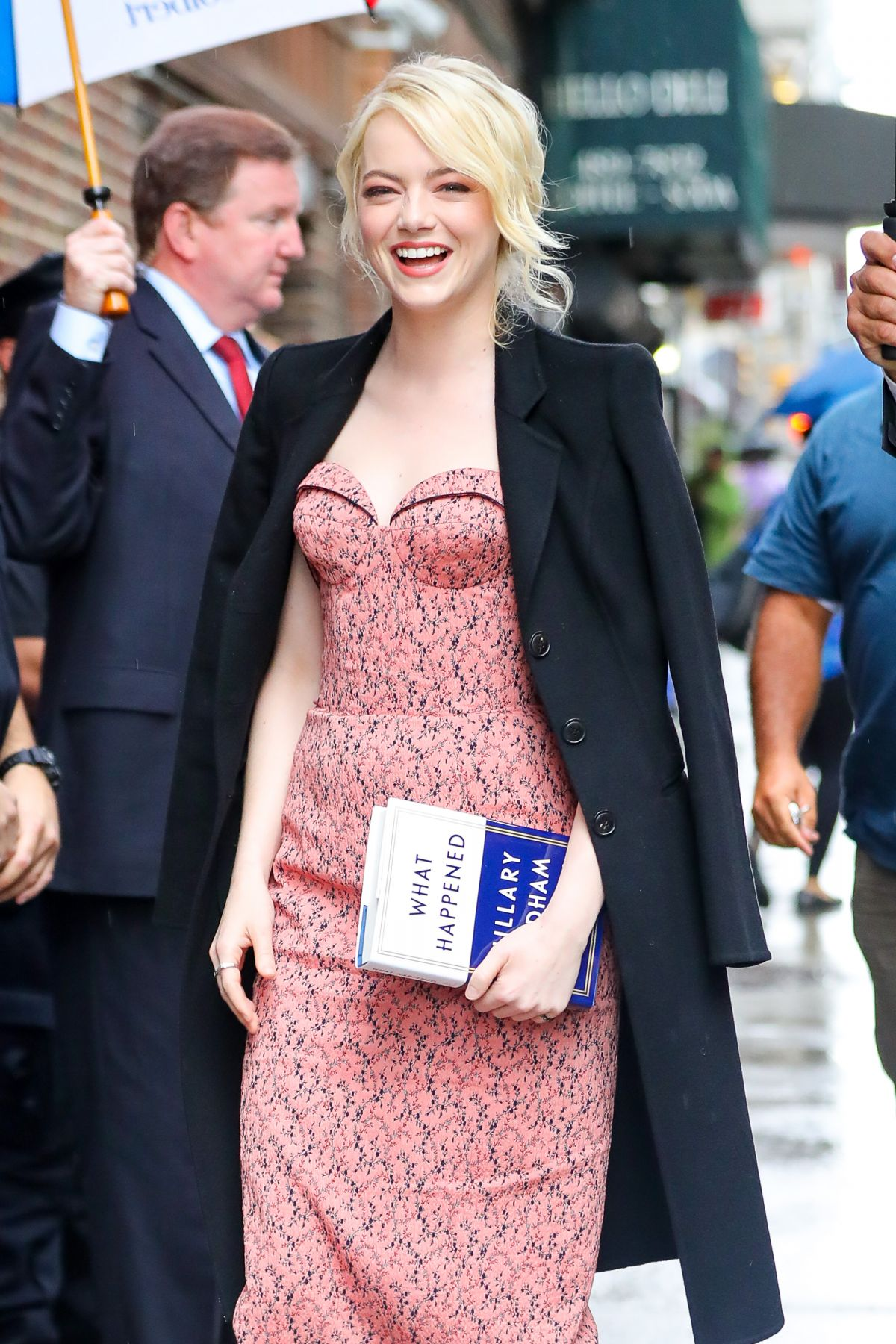 EMMA STONE Arrives at Late Show with Stephen Colbert in New York 09/19/2017