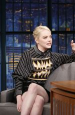 EMMA STONE at Late Night with Seth Meyers in New York 09/21/2017