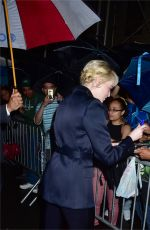 EMMA STONE Leaves Late Show with Stephan Colbert in New York 09/19/2017