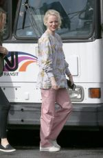 EMMA STONE on the Set of Maniac in New York 09/20/2017