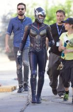 EVANGELINE LILLY at Ant-man and the Wasp Set in Atlanta 09/20/2017