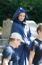 EVANGELINE LILLY on the Set of Ant-man and the Wasp in Atlanta 08/16/2017