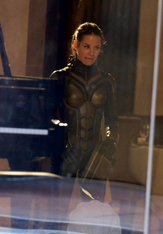 EVANGELINE LILLY on the Set of Ant-man and the Wasp in Atlanta 09/26/2017