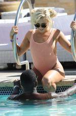 GABBY ALLEN in Swimsuit at a Pool in Las Vegas 09/14/2017
