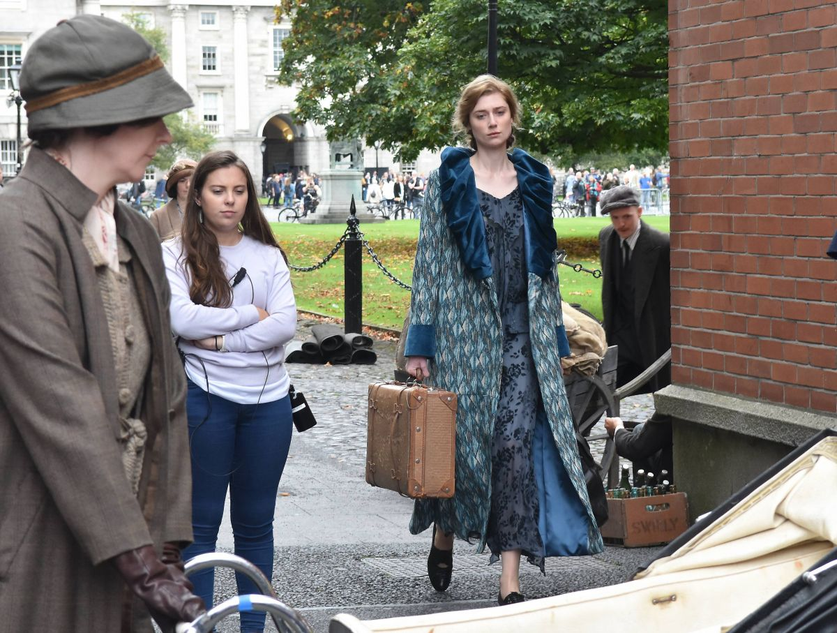 GEMMA ARTERTON adn ELIZABETH DEBICKI on the Set of Vita and Virginia in Dublin 09/04/2017