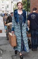 GEMMA ARTERTON adn ELIZABETH DEBICKI on the Set of Vita and Virginia in Dublin 09/04/2017