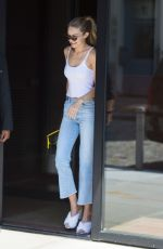 GIGI GADID in Tank Top and Jeans Out in New York 09/05/2017