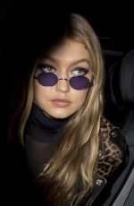 GIGI HADID Arrives at Her Hotel in London 09/19/2017