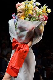 GIGI HADID at Moschino Fashion Show at Milan Fashion Week 09/21/2017