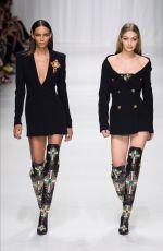 GIGI HADID at Versace Fashion Show at Milan 09/22/2017