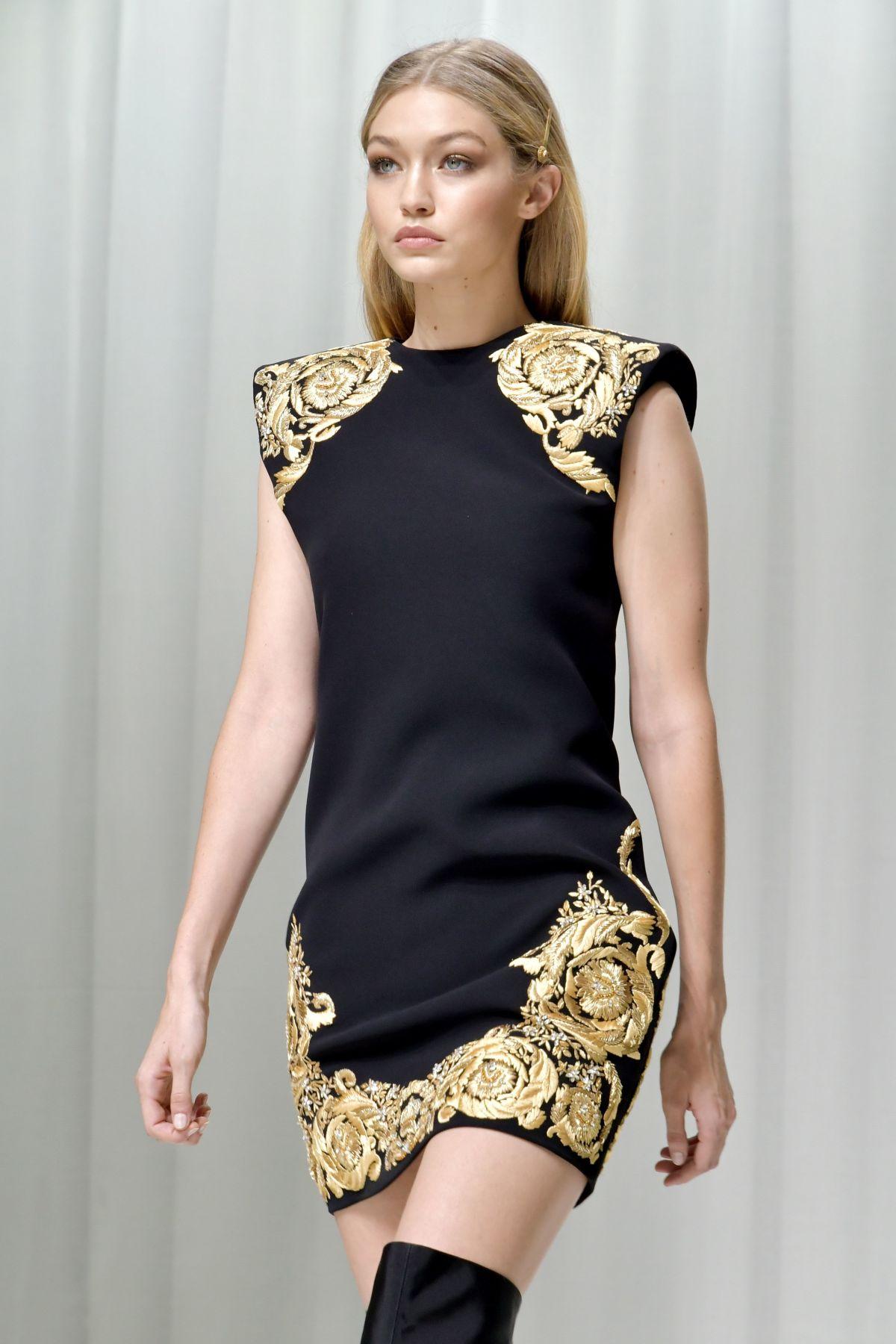 e04cc092ab GIGI HADID at Versace Fashion Show at Milan Fashion Week .