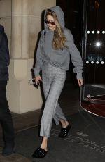 GIGI HADID Leaves Her Hotel in Paris 09/29/2017