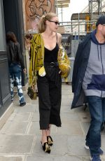 GIGI HADID Leaves Isabel Marant Office in Paris 09/27/2017