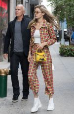 GIGI HADID Out and About in New York 09/08/2017