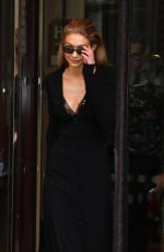 GIGI HADID Out and About in Paris 09/27/2017