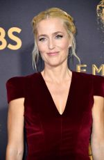 GILLIAN ANDERSON at 69th Annual Primetime EMMY Awards in Los Angeles 09/17/2017