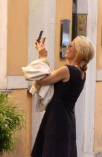 GILLIAN ANDERSON on Vacation in Rome 07/19/2017