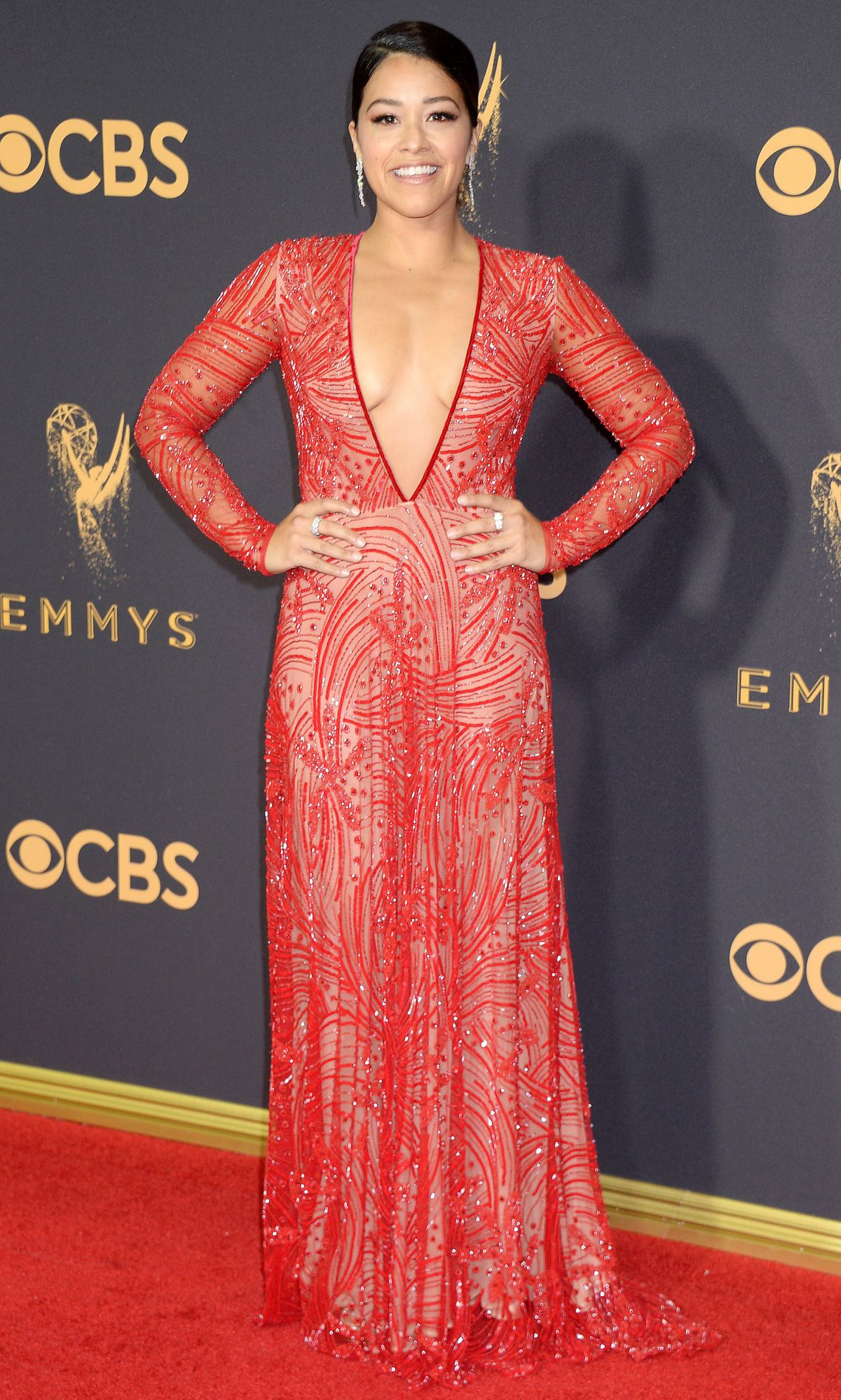 GINA RODRIGUEZ at 69th Annual Primetime EMMY Awards in Los Angeles 09/17/2017