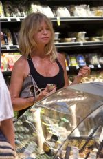 GOLDIE HAWN Shopping at Whole Foods in Los Angeles 09/03/2017