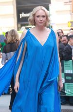 GWENDOLINE CHRISTIE Arrives at AOL Build Studios in New York 09/07/2017