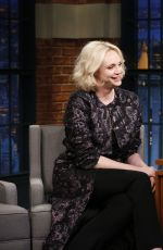 GWENDOLINE CHRISTIE at Late Night with Seth Meyers in New York 09/05/2017