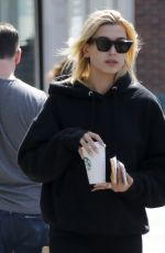 HAILEY BALDWIN Leaves Starbucks in New York 09/01/2017