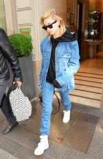 HAILEY BALDWIN Out and About at Milan Fashion Week 09/25/2017