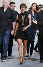 HALLE BERRY Arrives at Jimmy Kimmel Live in Los Angeles 09/21/2017