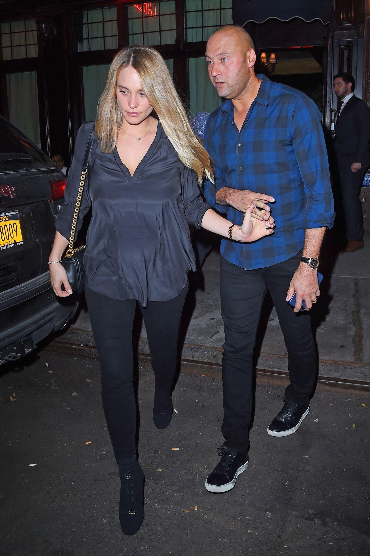 HANNAH DAVIS and Derek Jeter Out in New York 09/11/2017