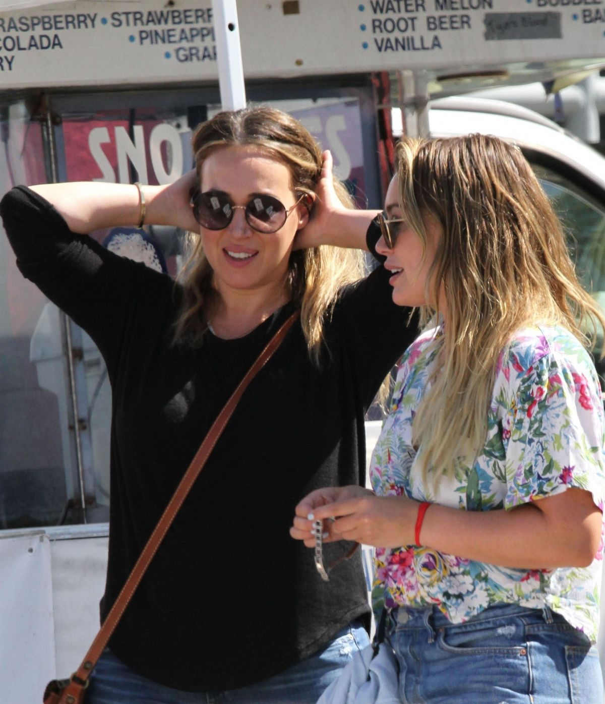 HILARY and HAYLIE DUFF Out in Studio City 09/10/2017