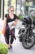 HILARY DUFF and Jason Walsh at a Gym in West Hollywood 09/03/2017