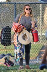 HILARY DUFF at a Baseball Court in Toluca Lake 09/06/2017