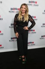 HILARY DUFF at Hand in Hand: A Benefit for Hurricane Relief in Los Angeles 09/12/2017