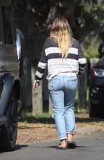 HILARY DUFF in Jeans Out in Los Angeles 09/09/2017