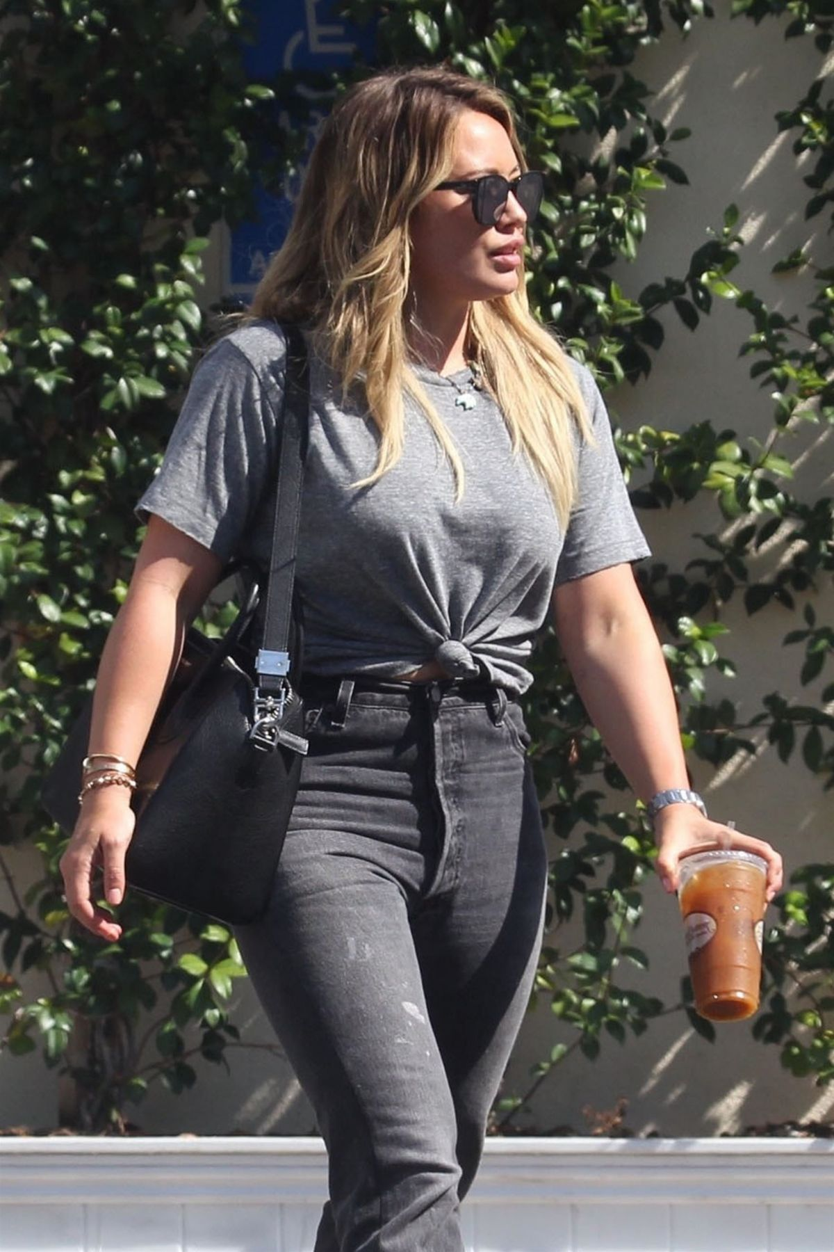 HILARY DUFF Leaves a Meeting in Los Angeles 08/30/2017