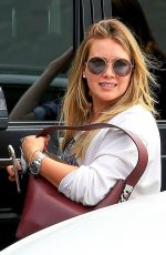 HILARY DUFF Leaves XIV Karats in Beverly Hills 09/19/2017