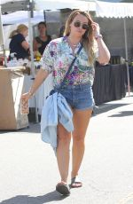 HILARY DUFF Out and About in Studio City 09/10/2017