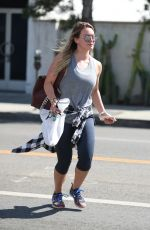HILARY DUFF Out and About in West Hollywood 09/26/2017